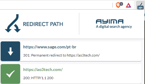 Redirect Path capture d'écran 1