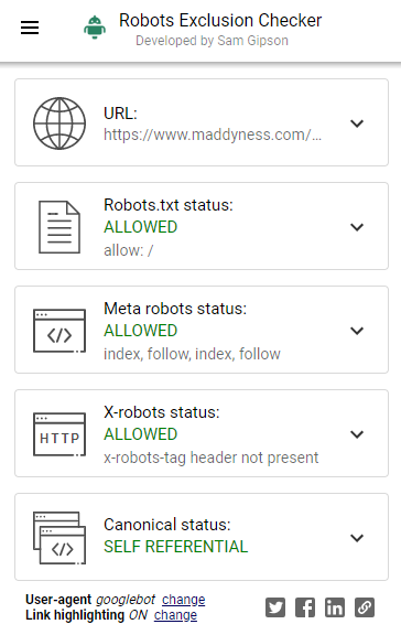 Robot Exclusion Checker Extension Chrome