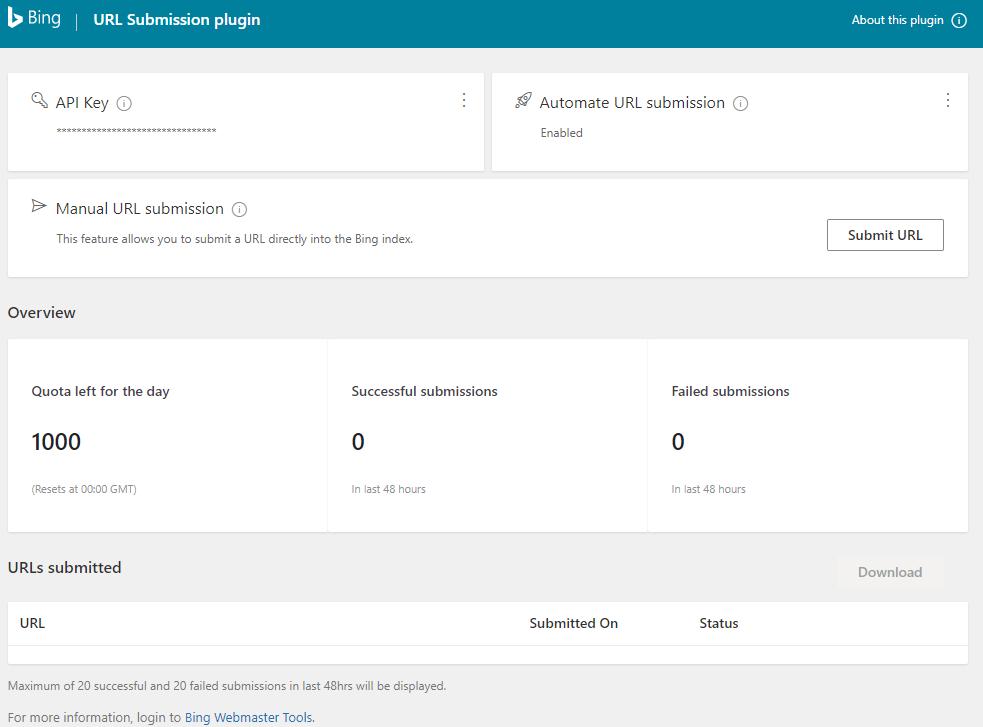 Bing Url Submission Plugin WordPress Seo